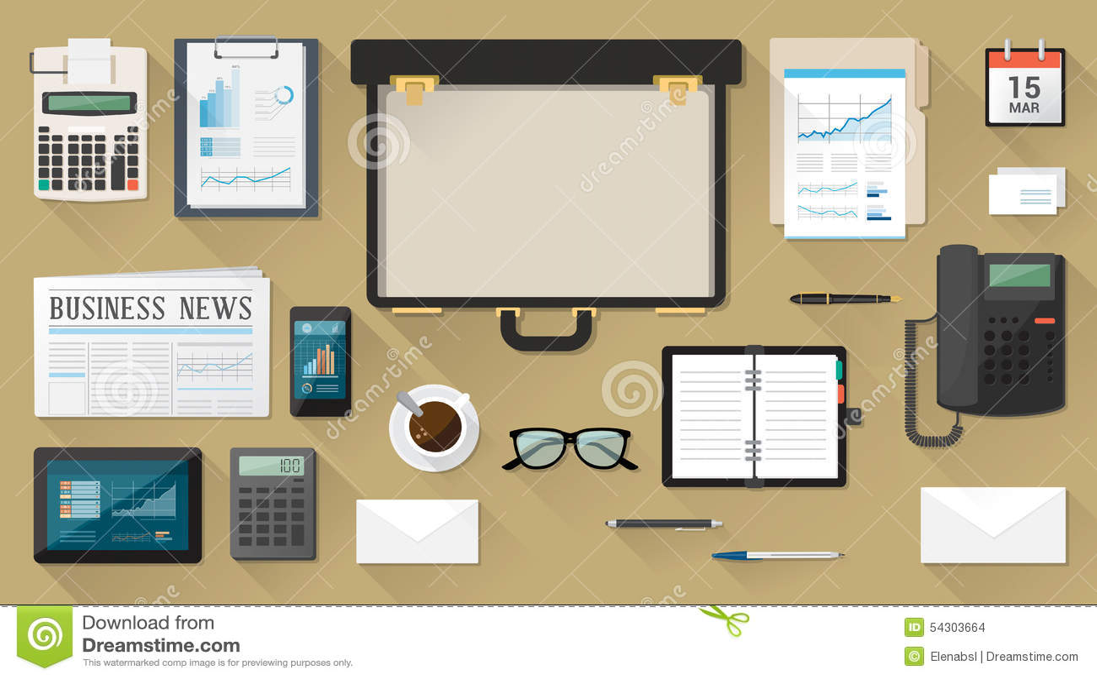 Mesa del hombre de negocios con la cartera