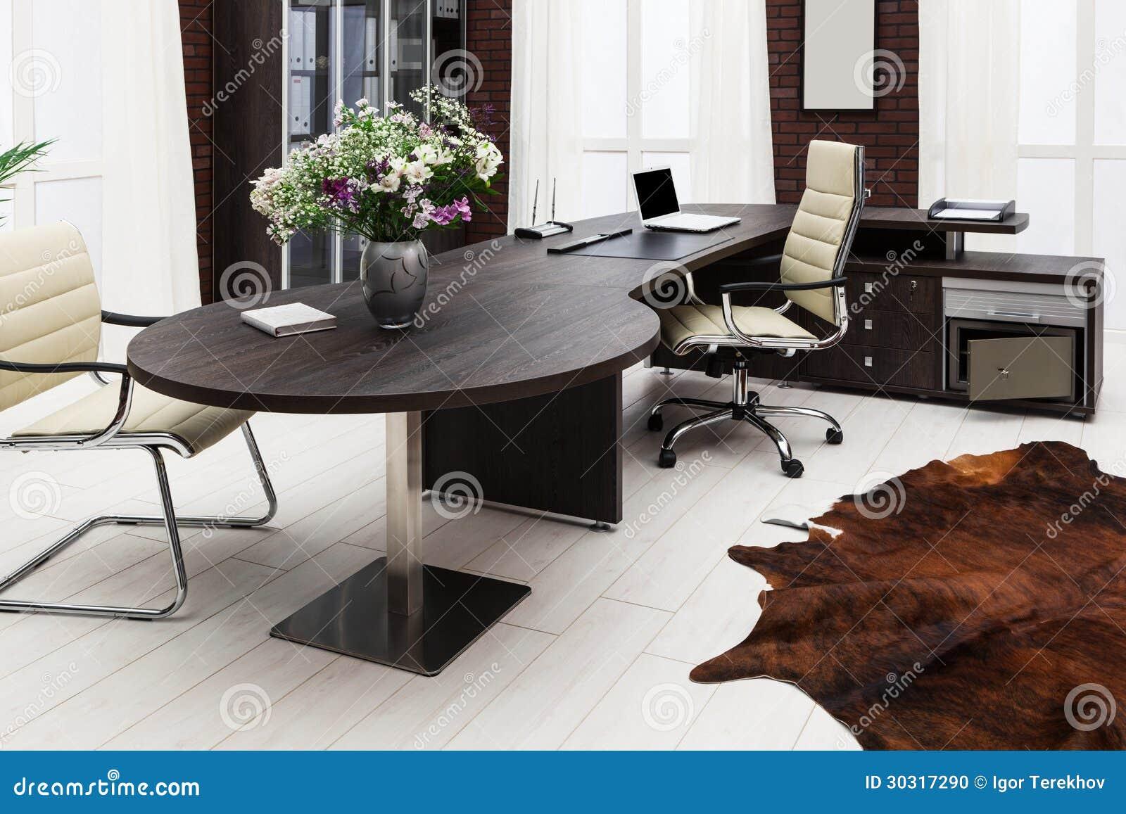 Mesa no escrit rio moderno foto de stock imagem 30317290 - Moderne kantoorbureaus ...