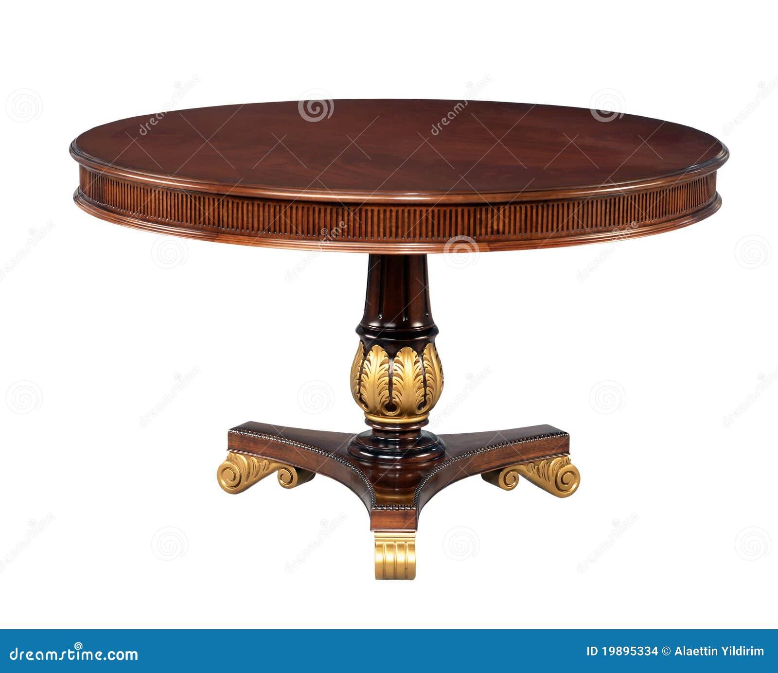 Mesa redonda de madeira antiga foto de stock imagem for Imagenes de piletas redondas