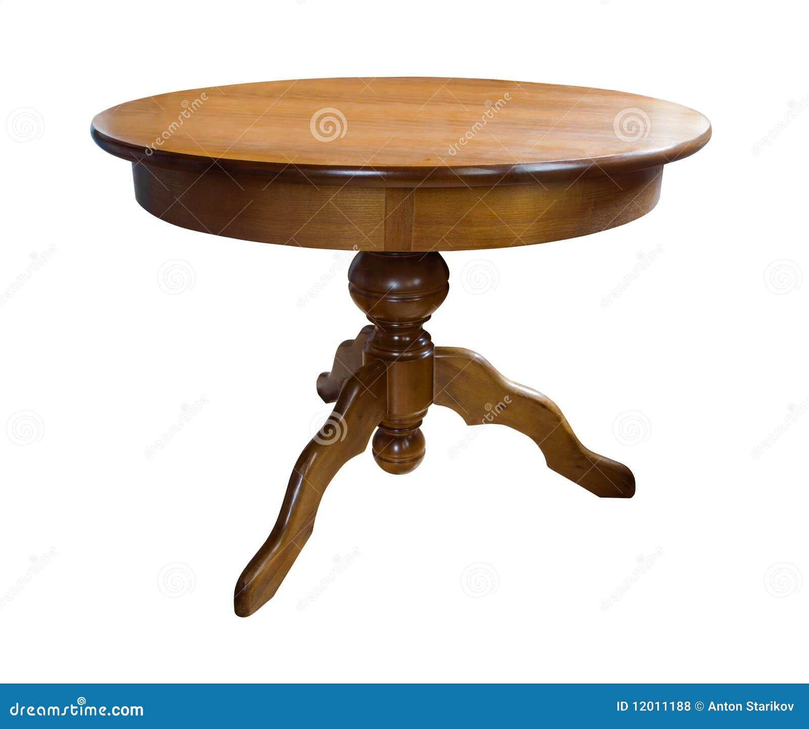 mesa redonda de madera fotos de archivo libres de regalas