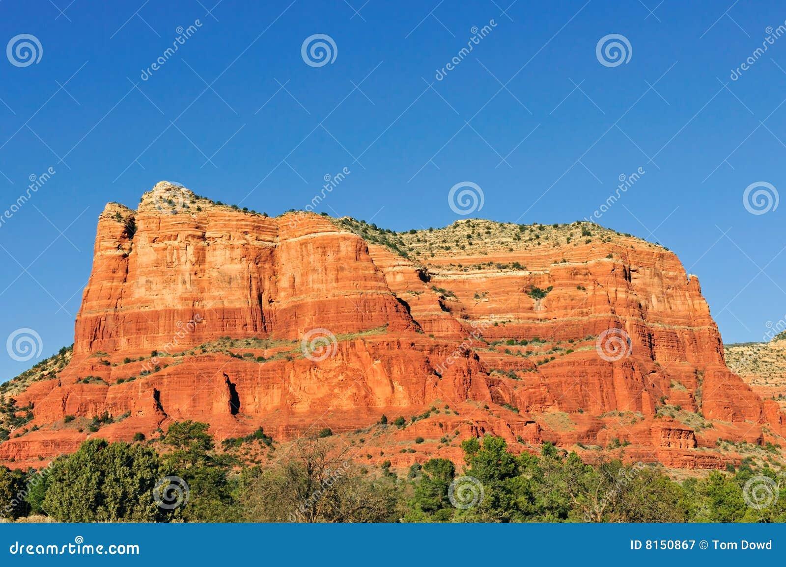 Mesa Rock Formation Arizona Stock Image Image Of