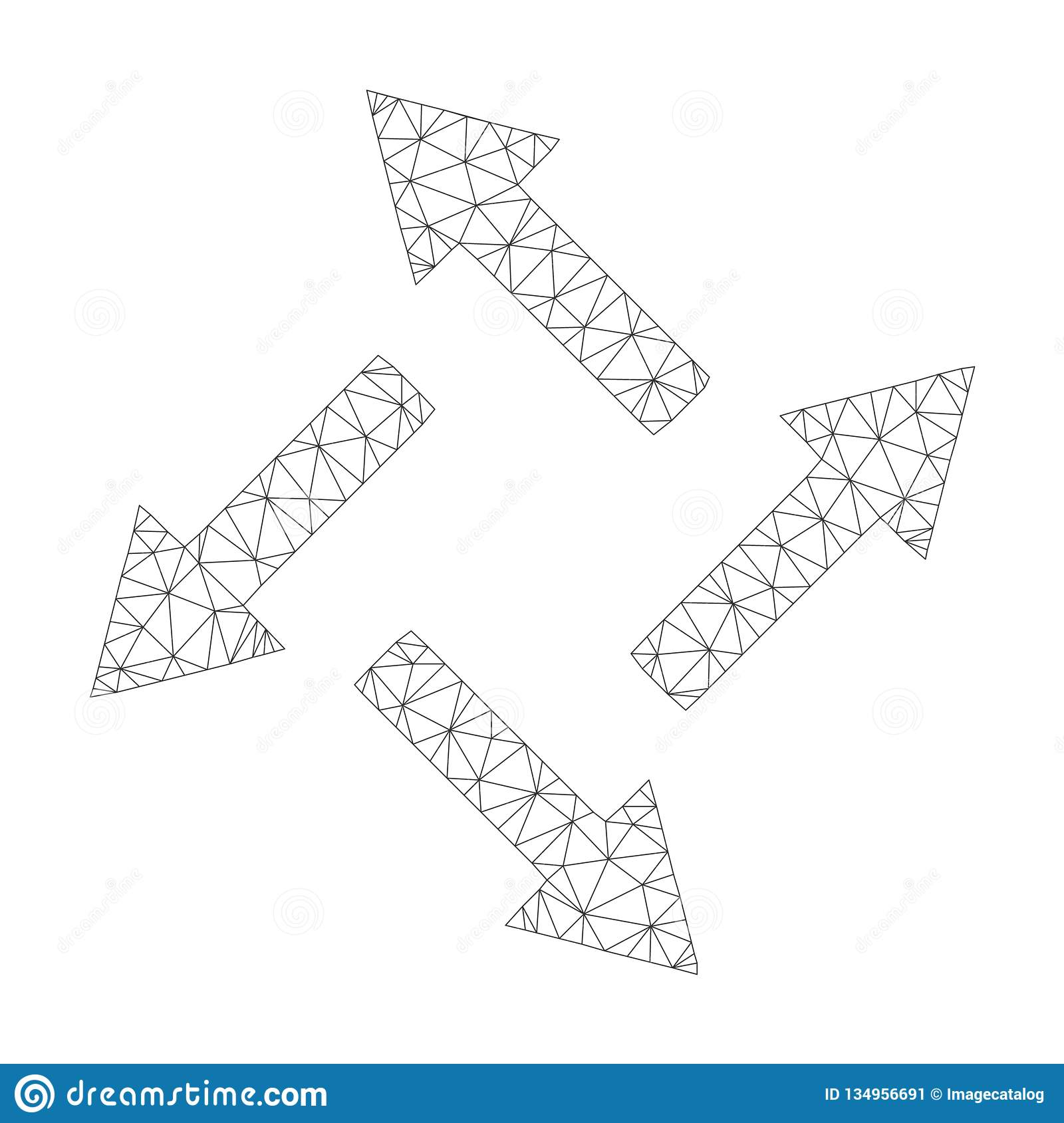 Mesh Vector Centrifugal Arrows Icon