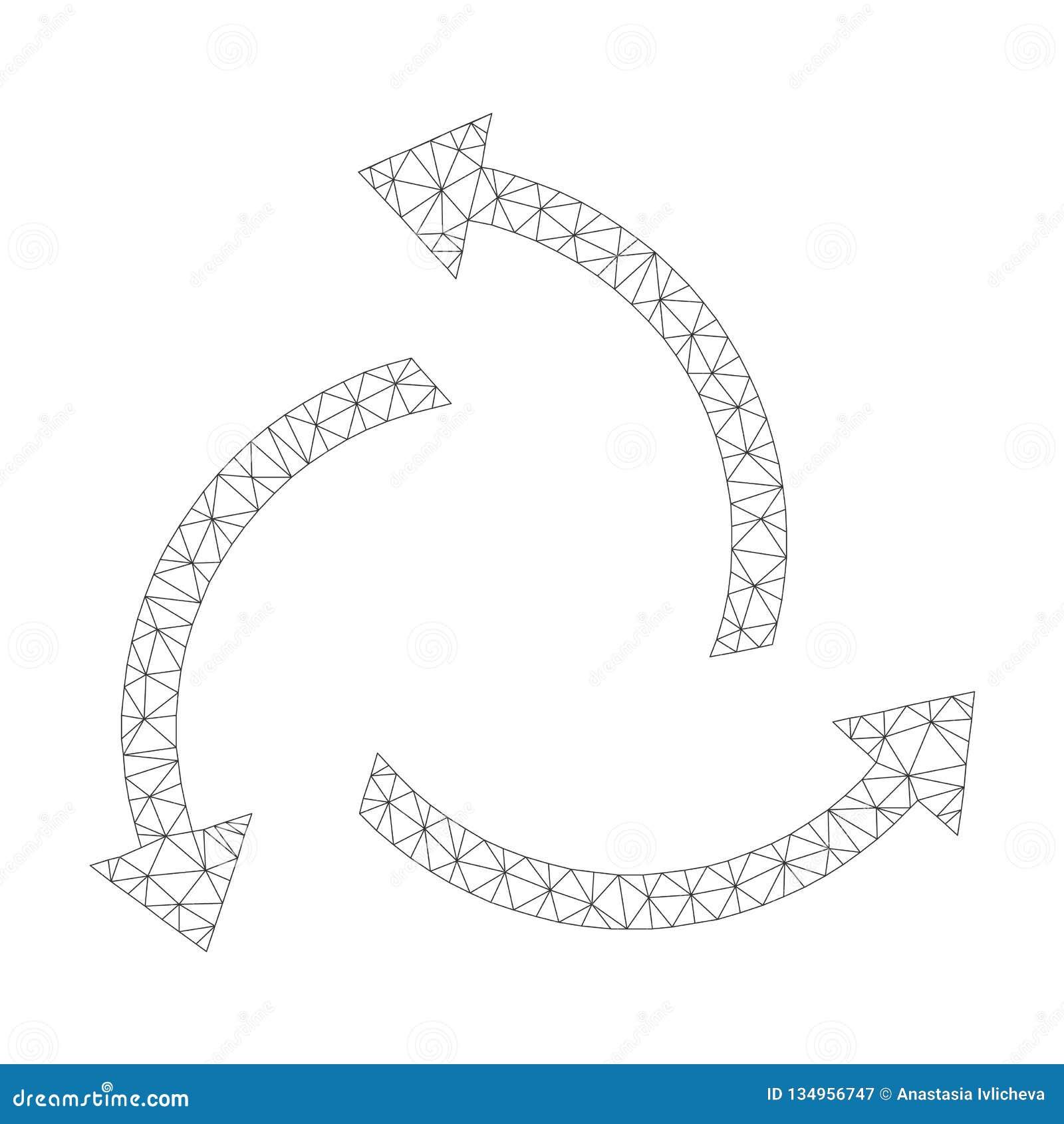 Mesh Vector Centrifugal Arrows Icon