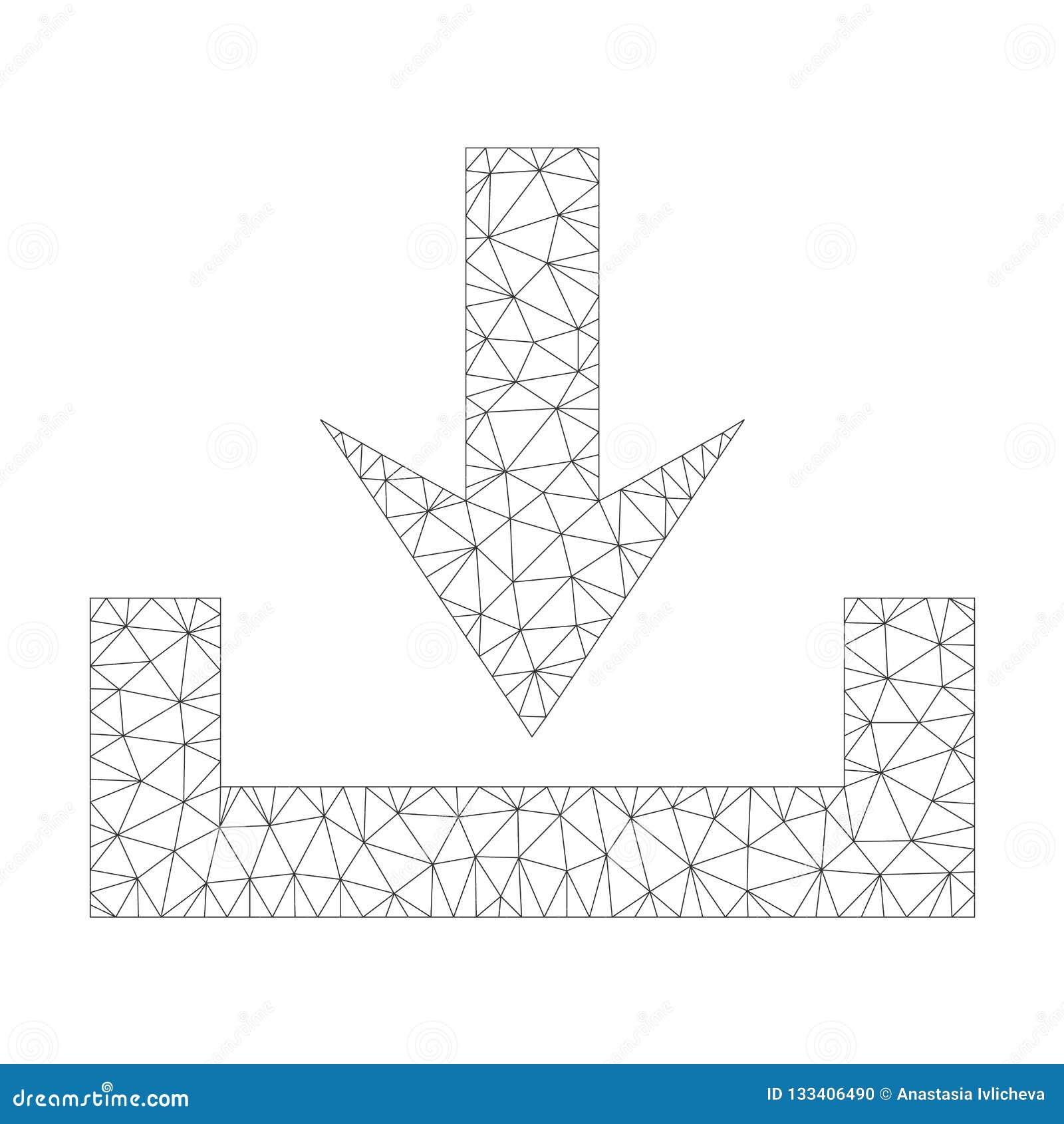 Mesh Vector Downloads Icon