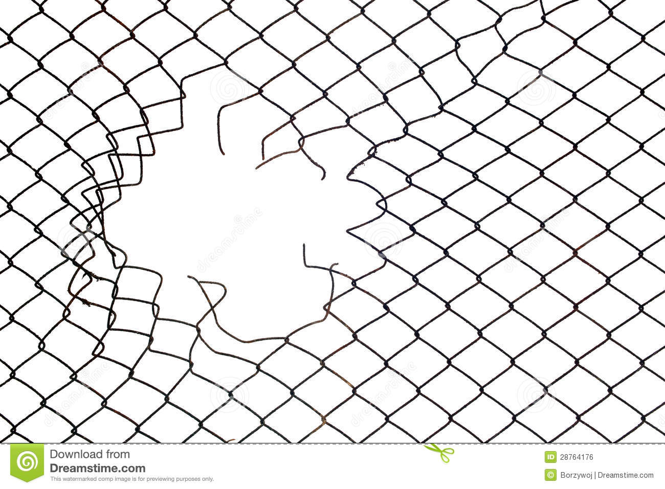 Mesh wire hole stock photo. Image of breach, rust, cage - 28764176