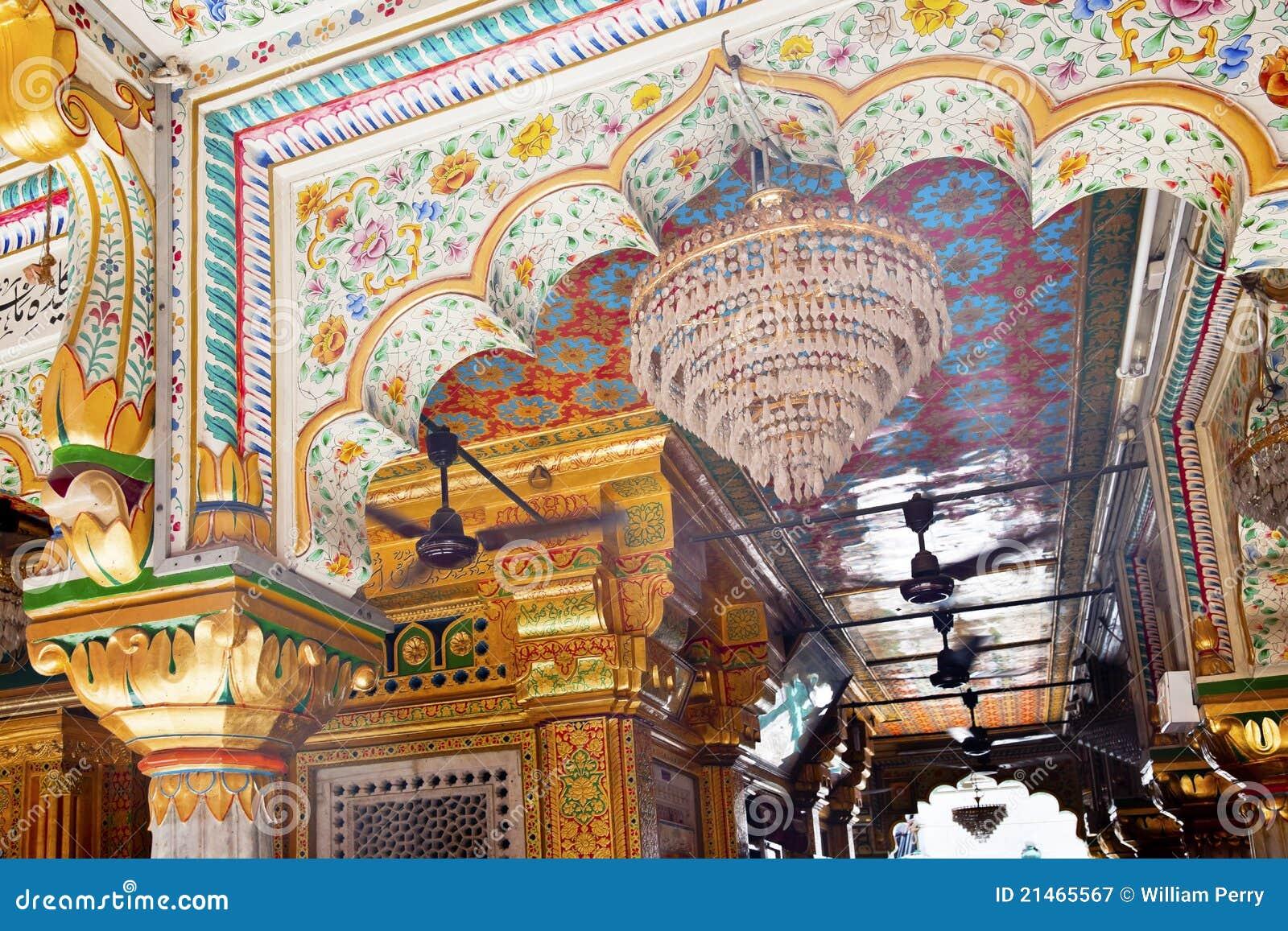 Mesquita complexa Nova Deli India de Nizamuddin