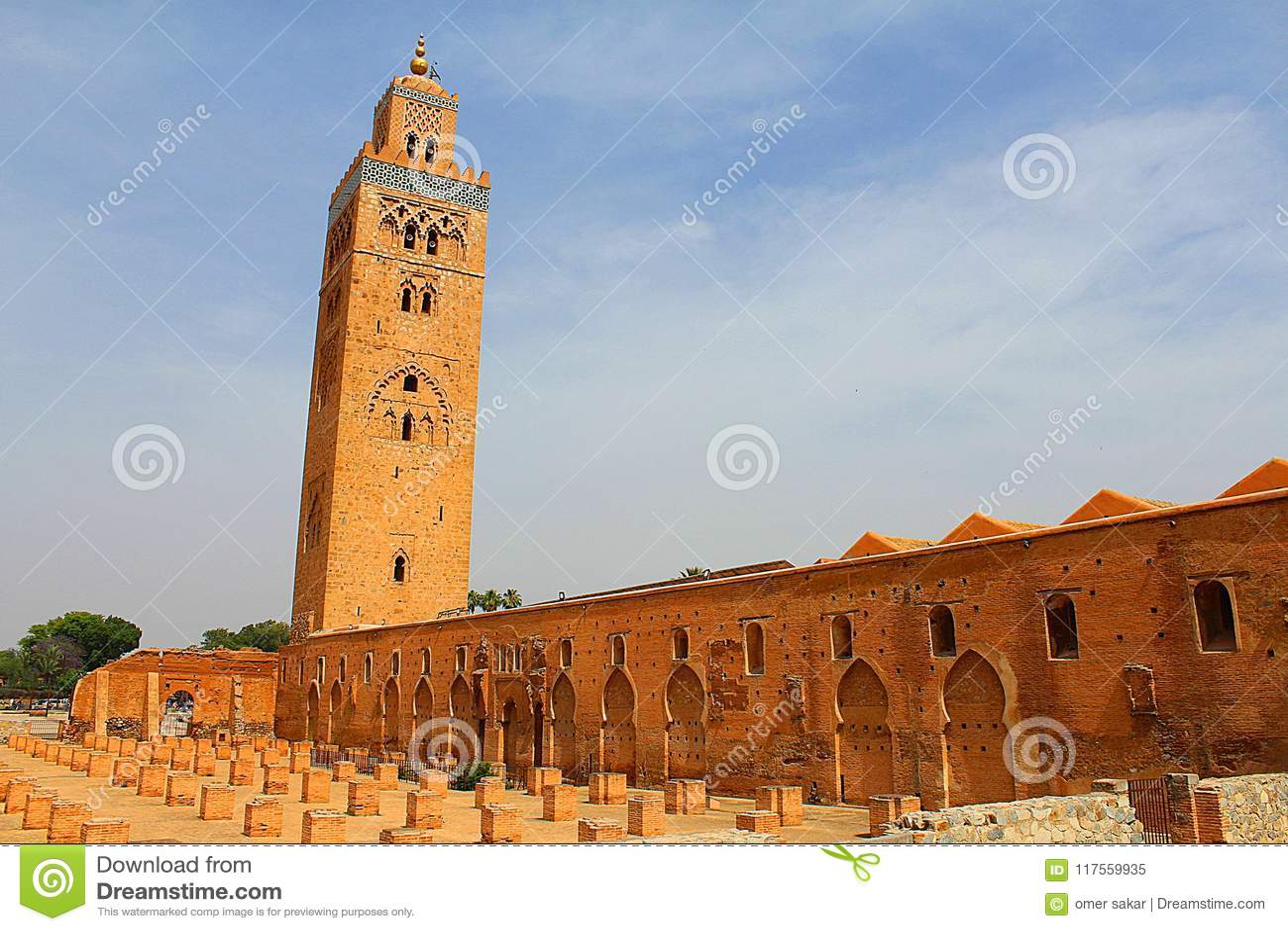 Mesquita de Cutubia de c4marraquexe Marrocos