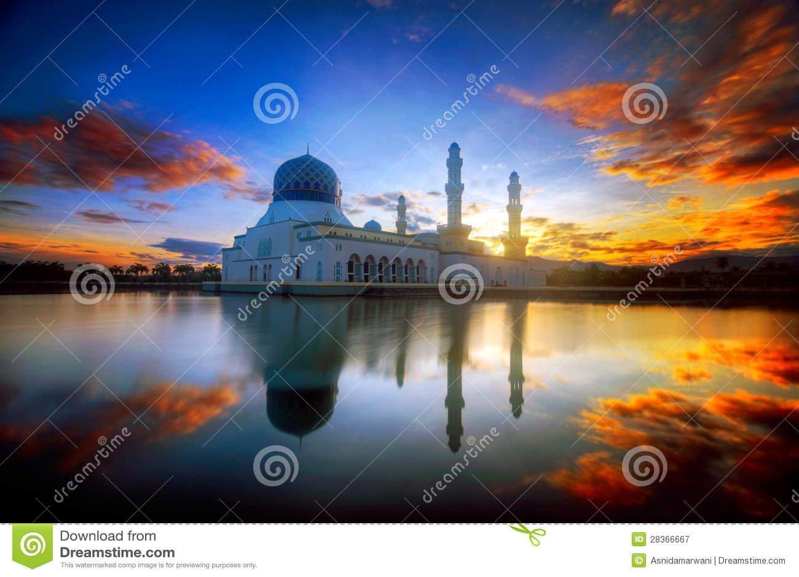 Mesquita de Malaysia Bornéu Kota Kinabalu Likas