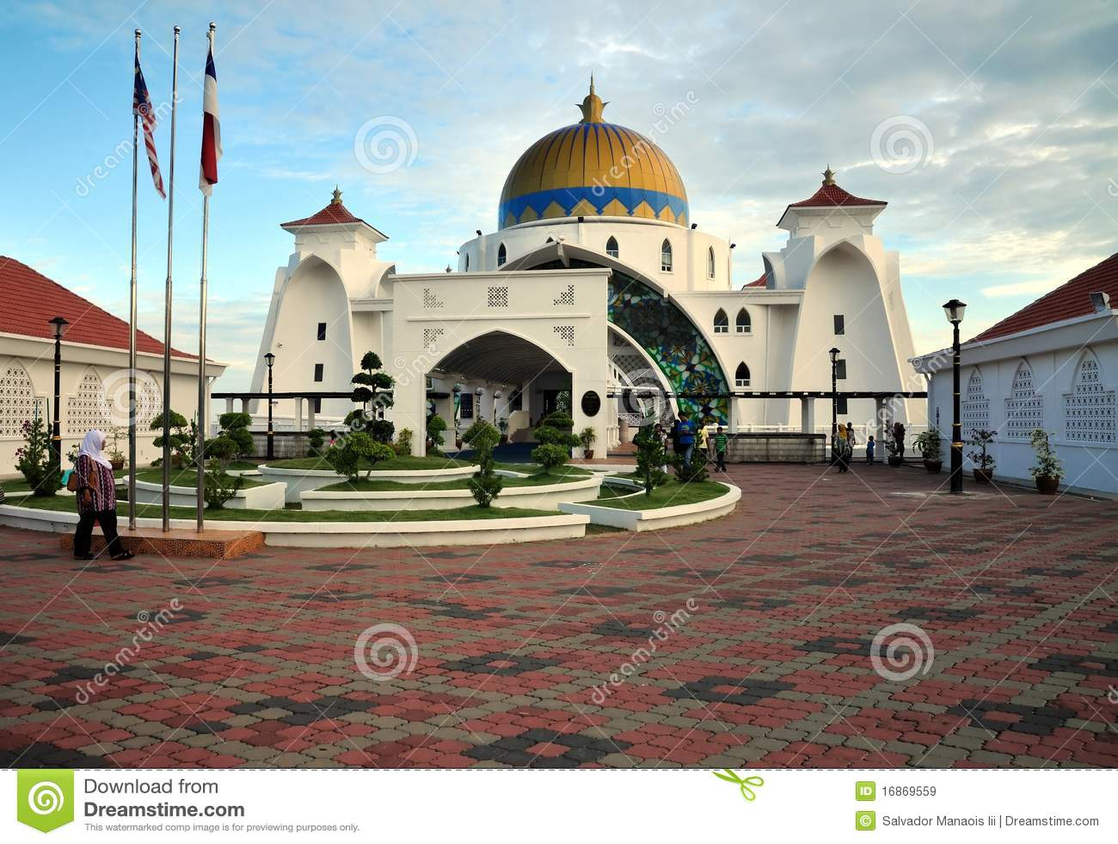 Mesquita de Masjid Selat, Malacca, Malaysia