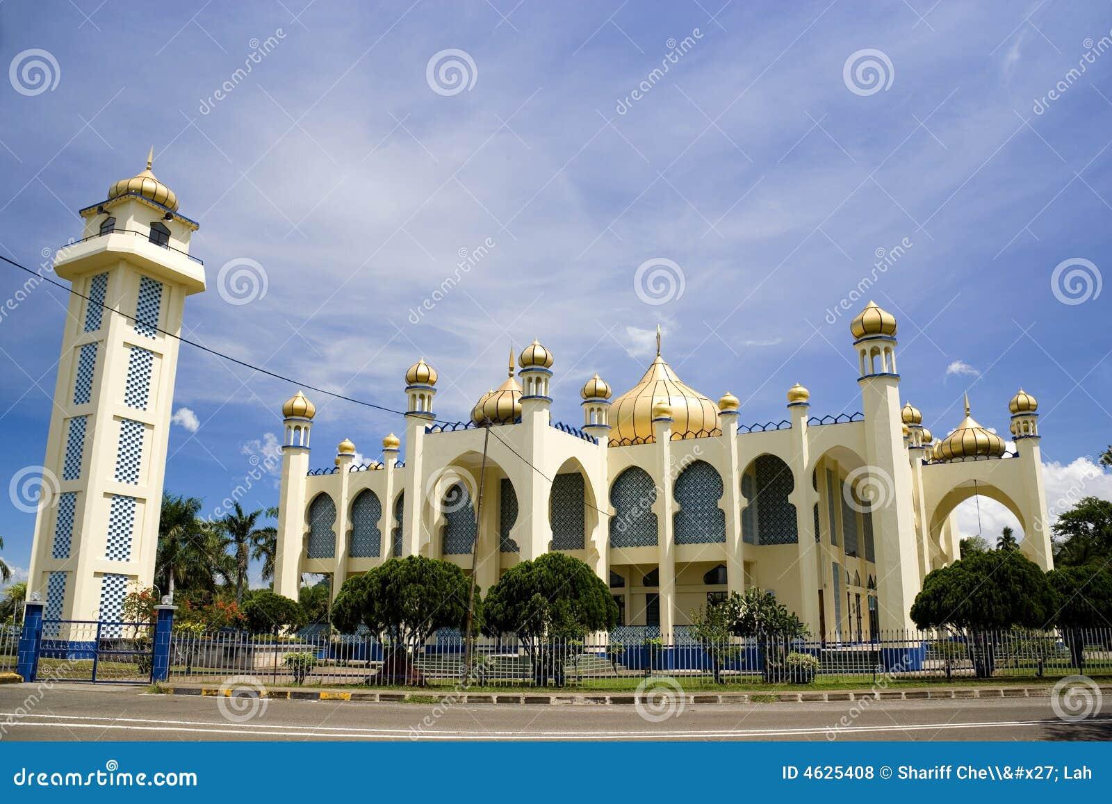 Mesquita velha da cidade pequena
