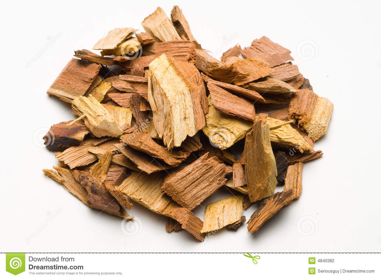Mesquite wood chips for barbecue stock photo image