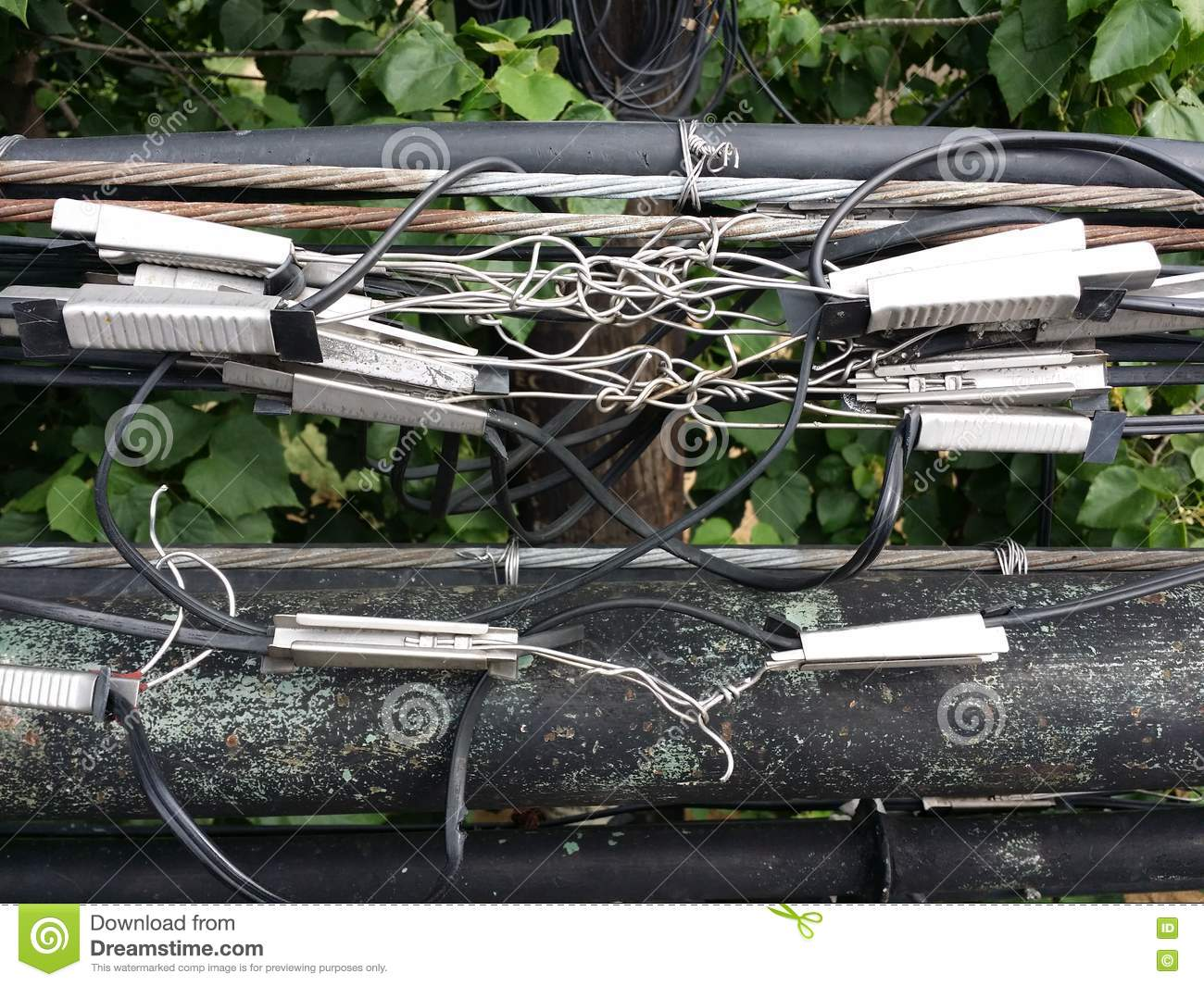 Mess of Cables editorial photo. Image of wire, danger - 81192641