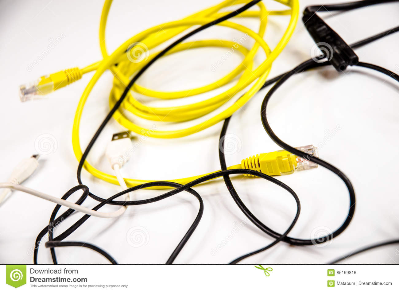 Mess In Old Pc Wires Stock Photo Image Of Network Garbage 85199816 Wiring