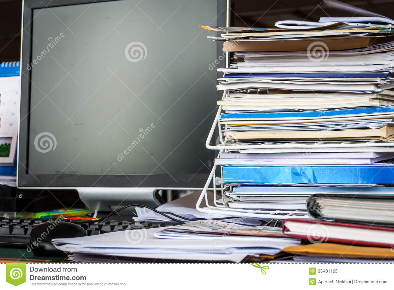 A Mess On Table In Office Royalty Free Stock Photo - Image: 36401165