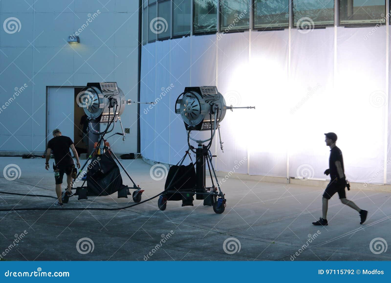 Messa in opera delle troupe cinematografica di Vancouver