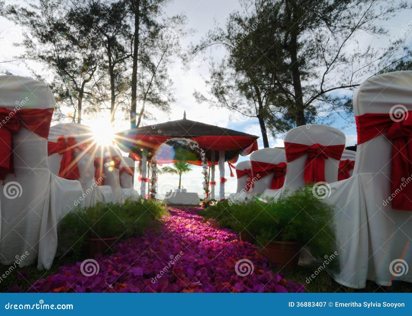 Download Messa A Punto All'aperto Di Nozze Immagine Stock - Immagine di giorno, celebrazione: 36883407