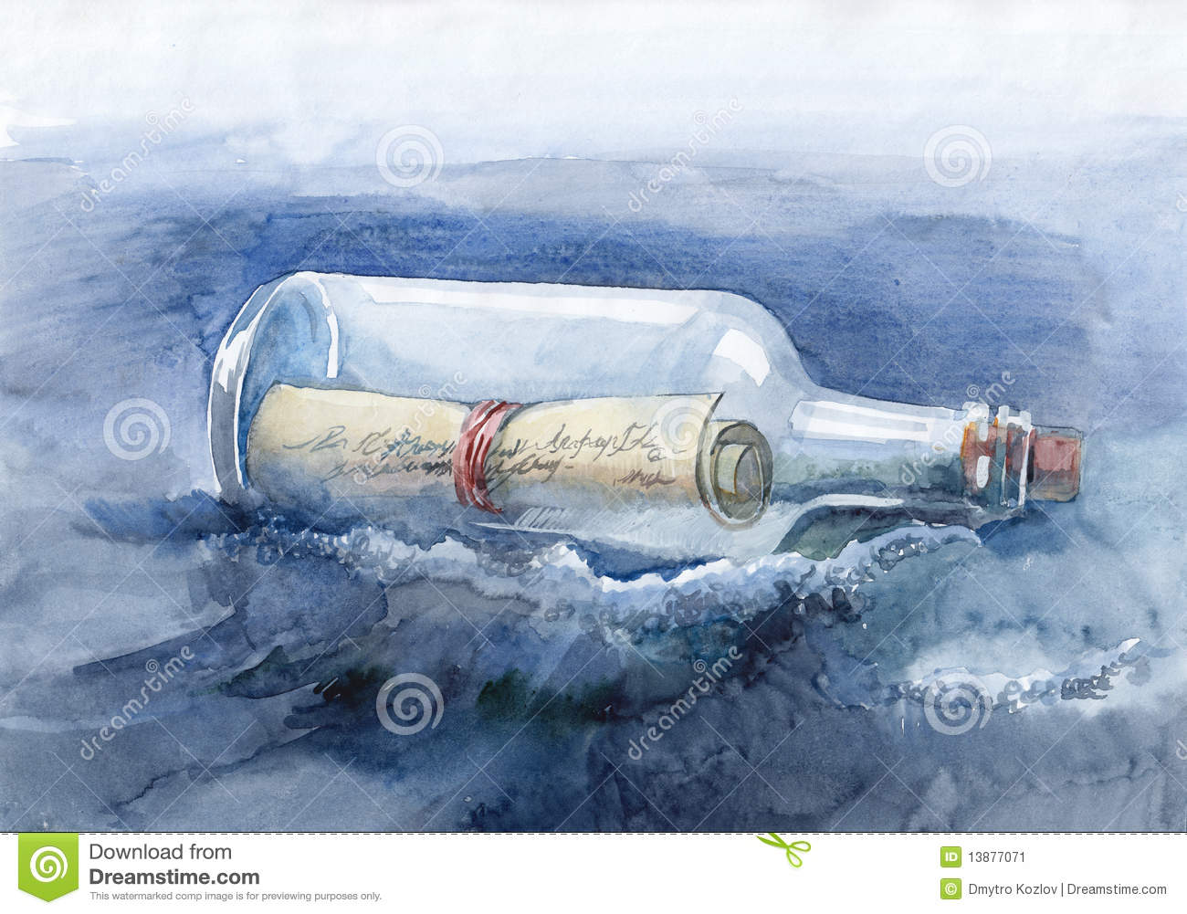 Message In A Bottle Stock Image - Image: 13877071