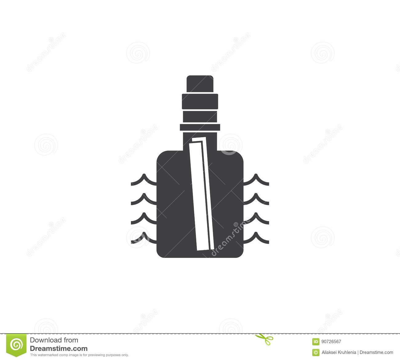 message bottle icon stock vector illustration of hope 90726567