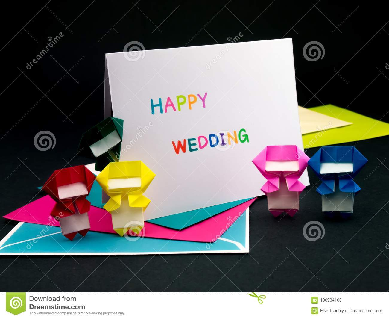 message card for your family and friends happy wedding