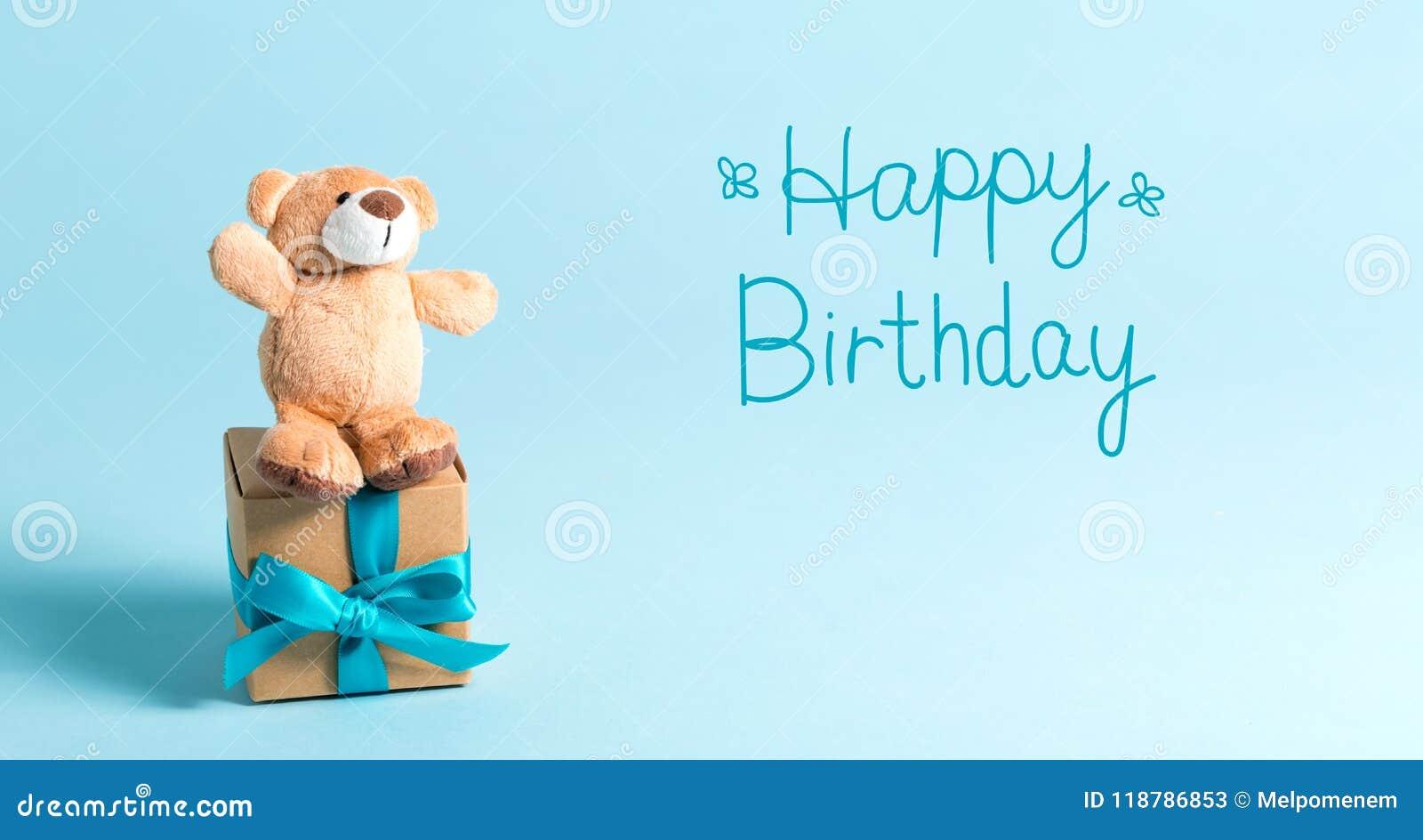 Message d anniversaire avec l ours de nounours