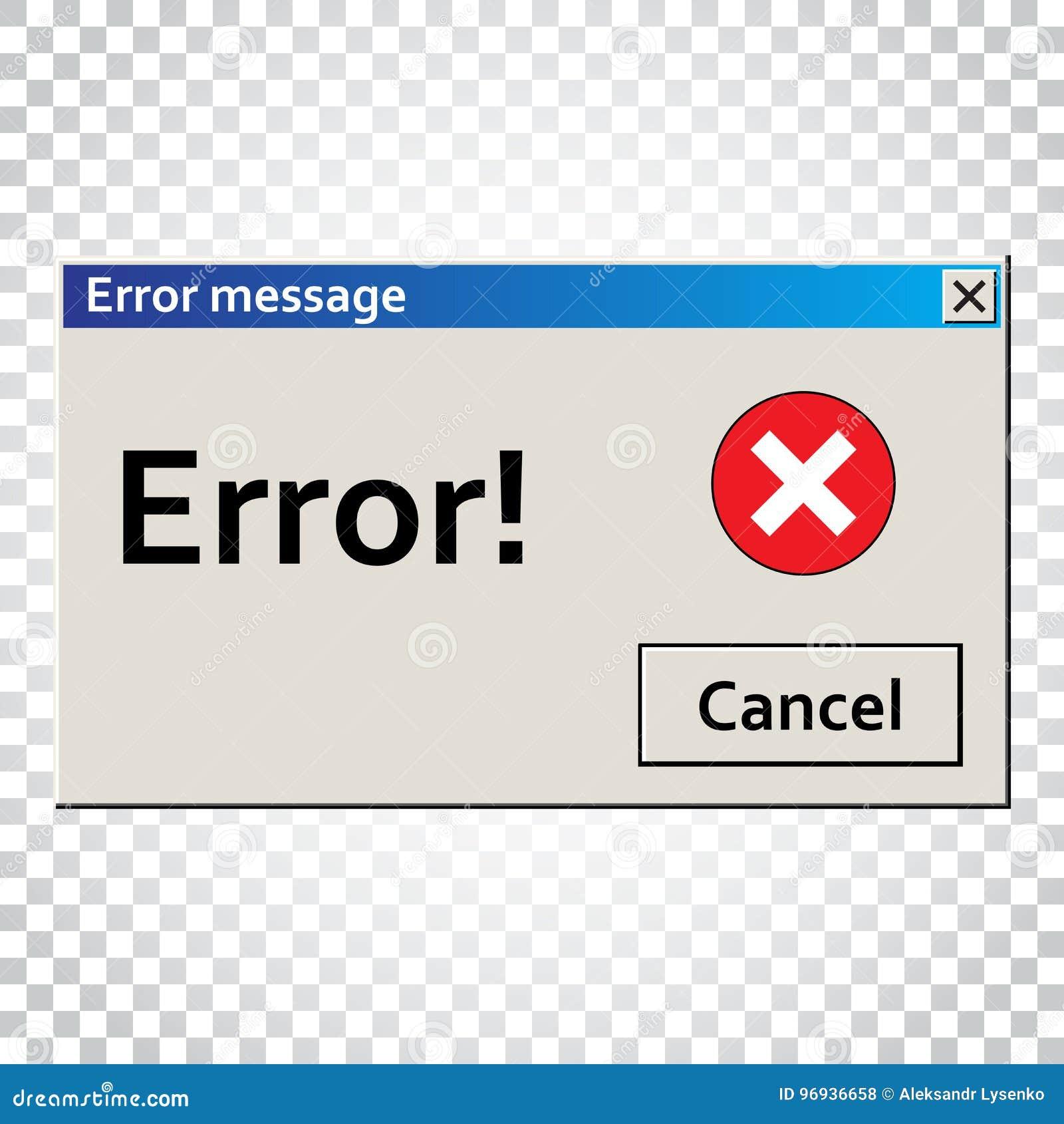 Message d avertissement d erreur Fenêtre d interface utilisateurs Illust vigilant de virus