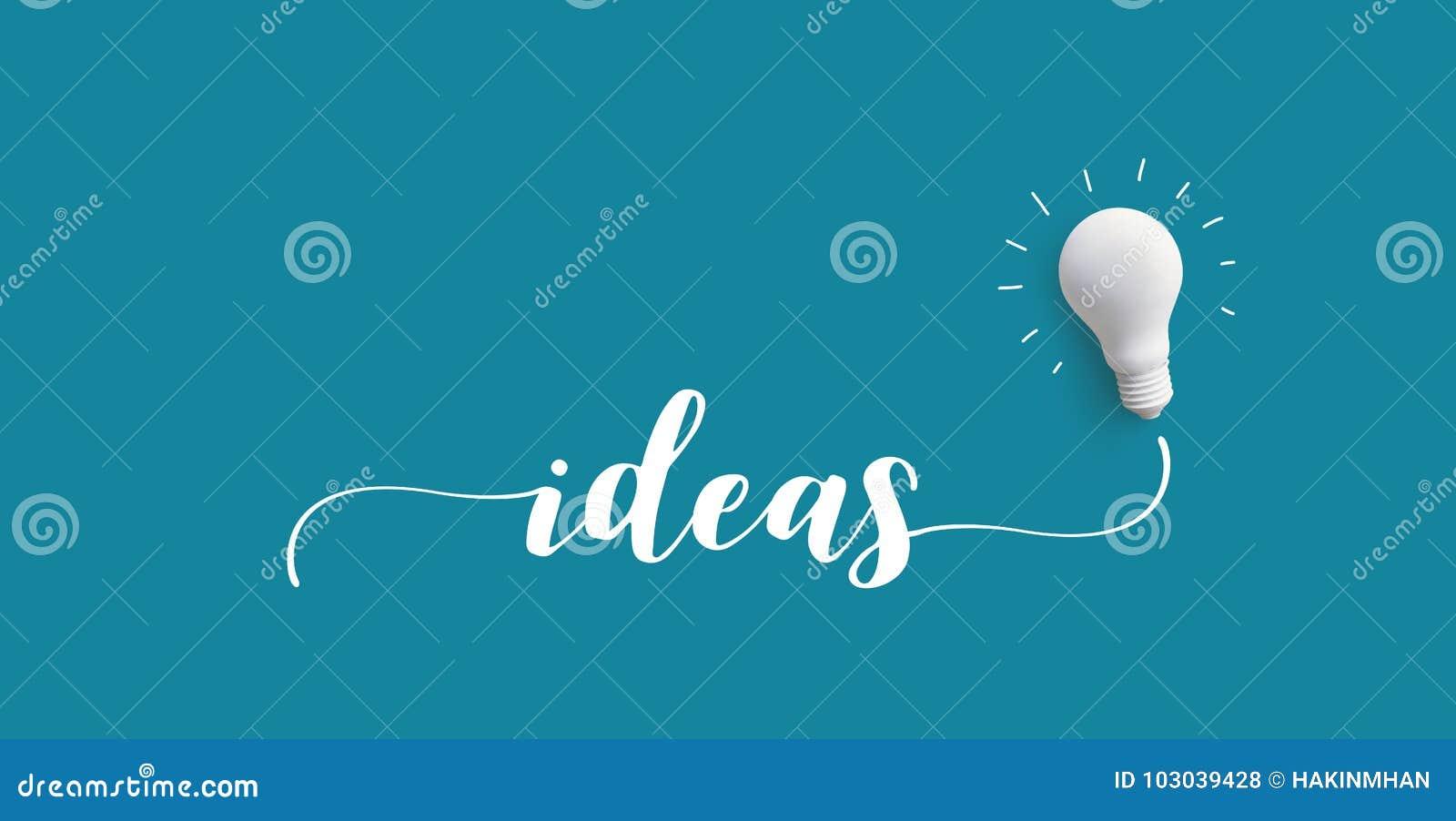 Message d IDÉES avec l ampoule Créativité d affaires