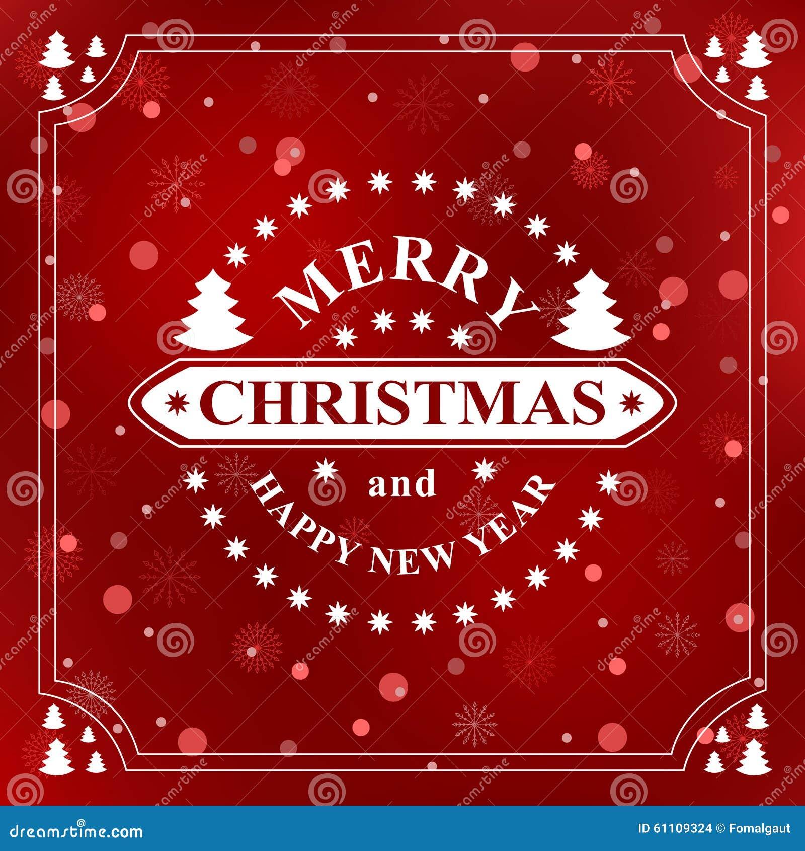 Message D An Neuf Heureux Souhait De Vacances De Joyeux Noel Carte