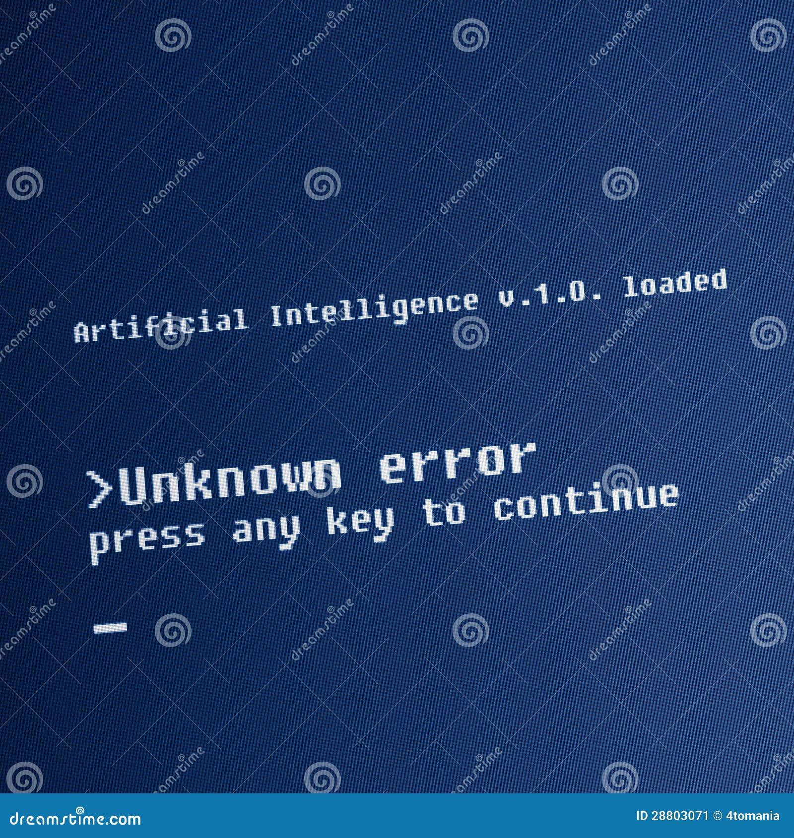 Message d ordinateur d intelligence artificielle