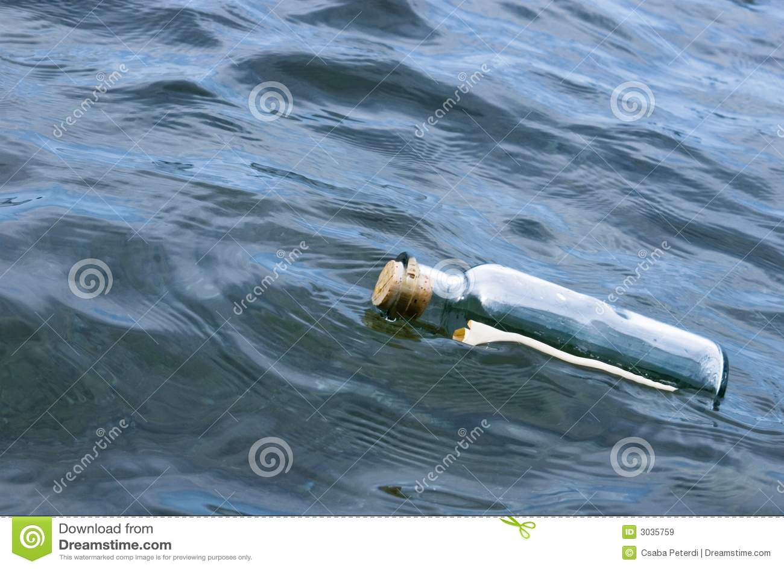 Message dans l eau