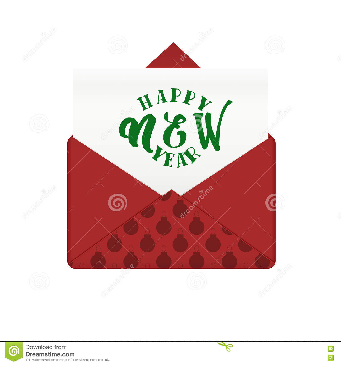 Message in envelope with happy new year greeting stock vector message in envelope with happy new year greeting holiday winter card and celebration mail vector illustration m4hsunfo