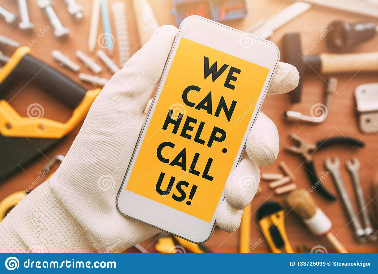Message futé de contact d appli de téléphone de bricoleur
