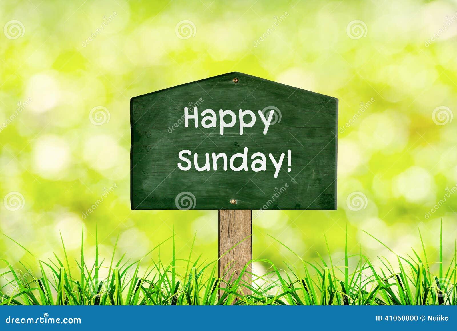 Message Happy Sunday Stock Photo
