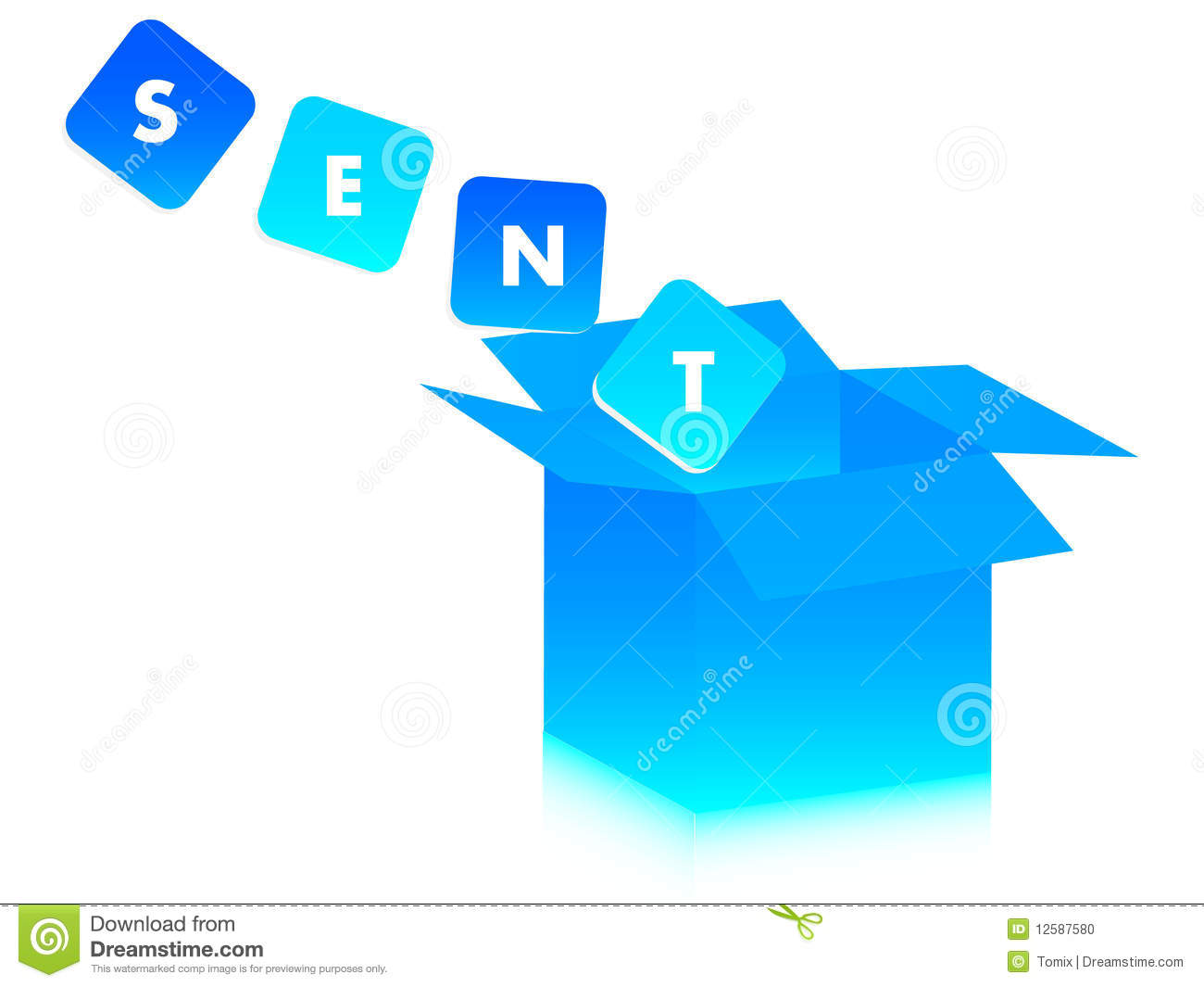 Plan Drawing Online Message Sent Stock Photo Image 12587580
