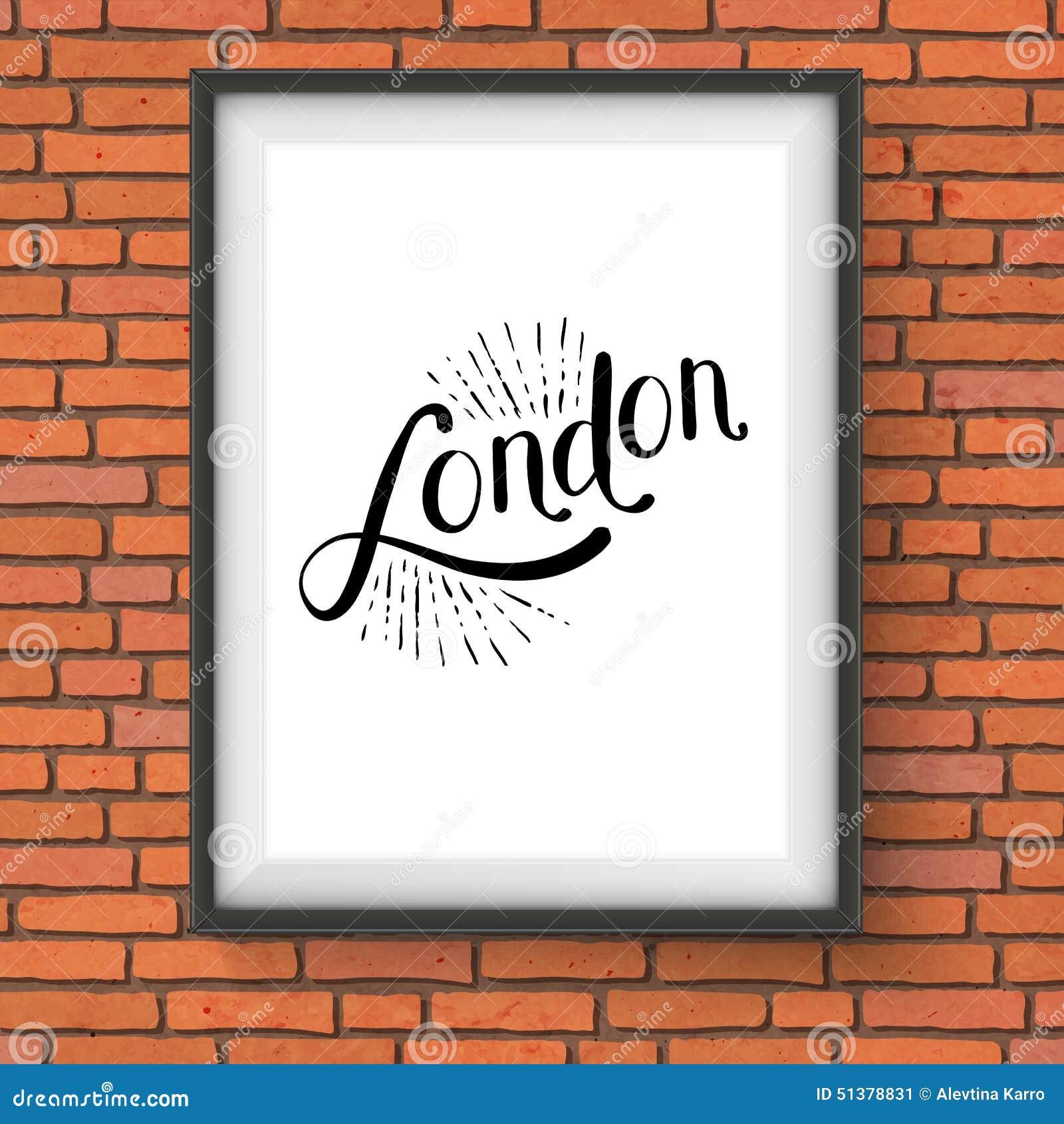 message simple de londres sur un cadre de tableau blanc illustration de vecteur illustration. Black Bedroom Furniture Sets. Home Design Ideas