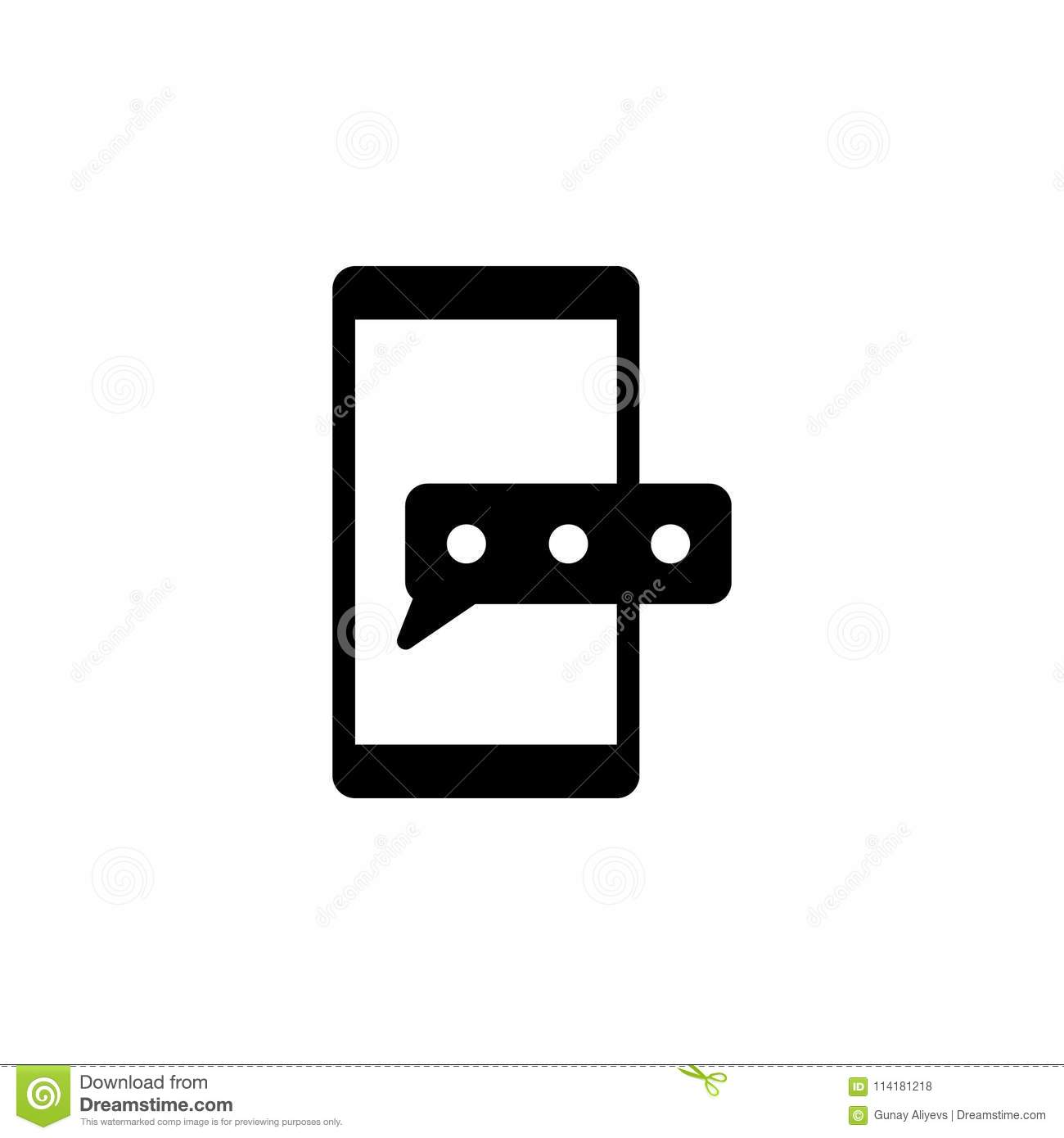 Message On Smart Phone Icon Element Of Simple Icon For Websites
