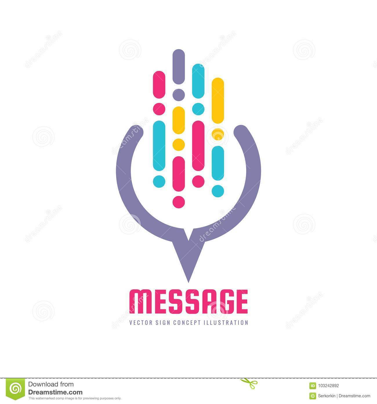 Message - vector logo template concept illustration in flat style. Abstract web communication creative sign. Social media.
