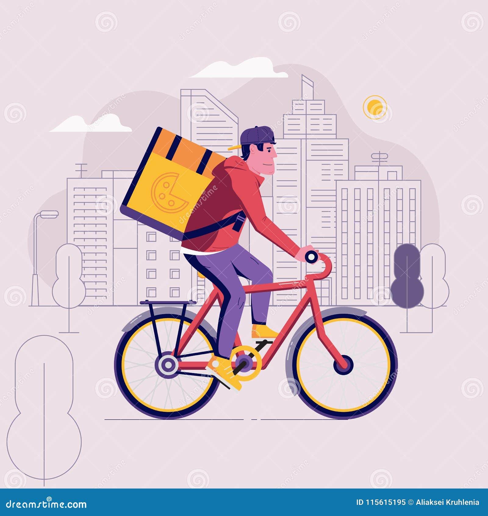 Messager Man de la livraison de bicyclette