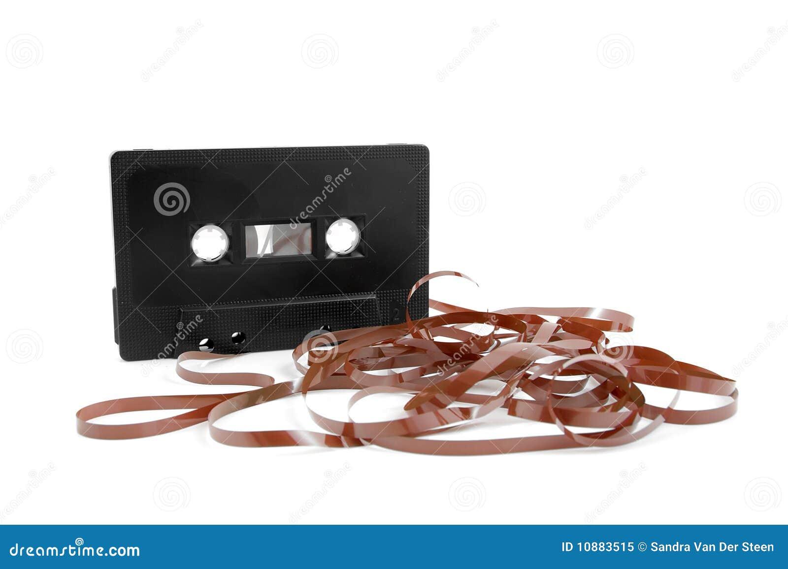 messed up audio cassette tape stock image image of mess broken 10883515. Black Bedroom Furniture Sets. Home Design Ideas