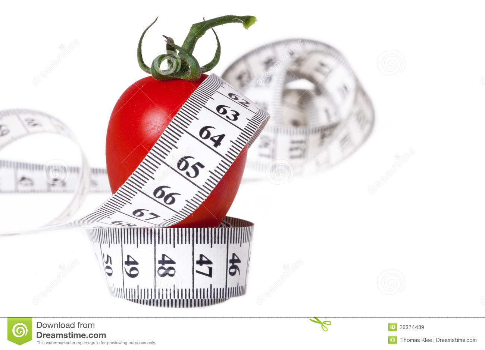 Messendes Band - gesunde Nahrung und Diät