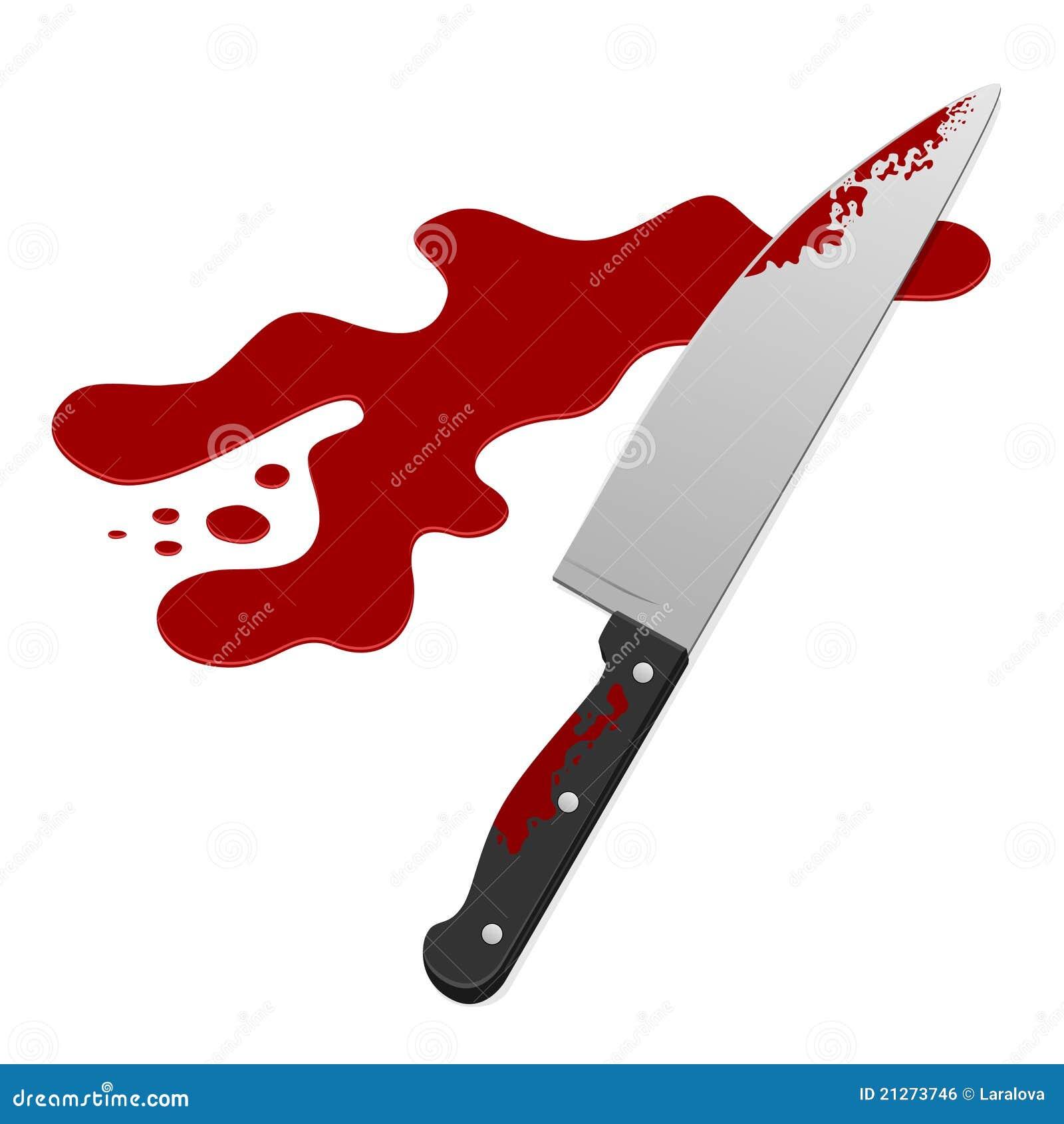 Messer mit Blut vektor abbildung. Bild von hurt, mord - 21273746