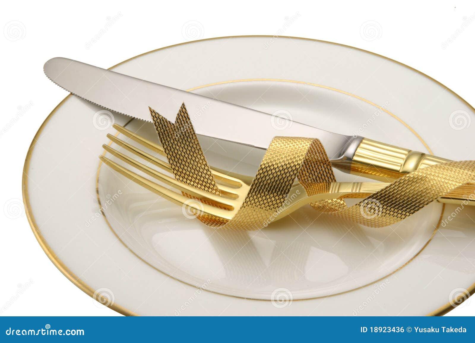 Messer und Gabel.