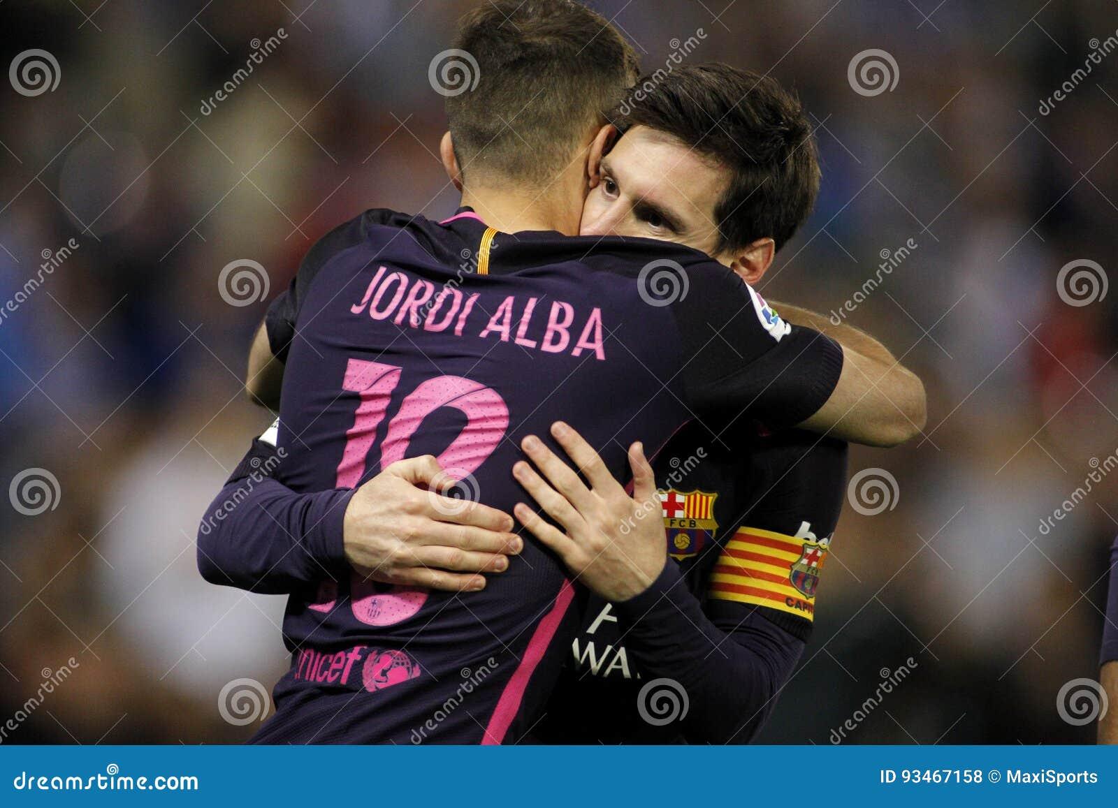 Messi y Jordi Alba del FC Barcelona
