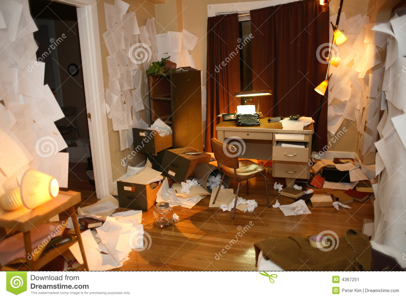 Messy Apartment Stock Image Image 4367251