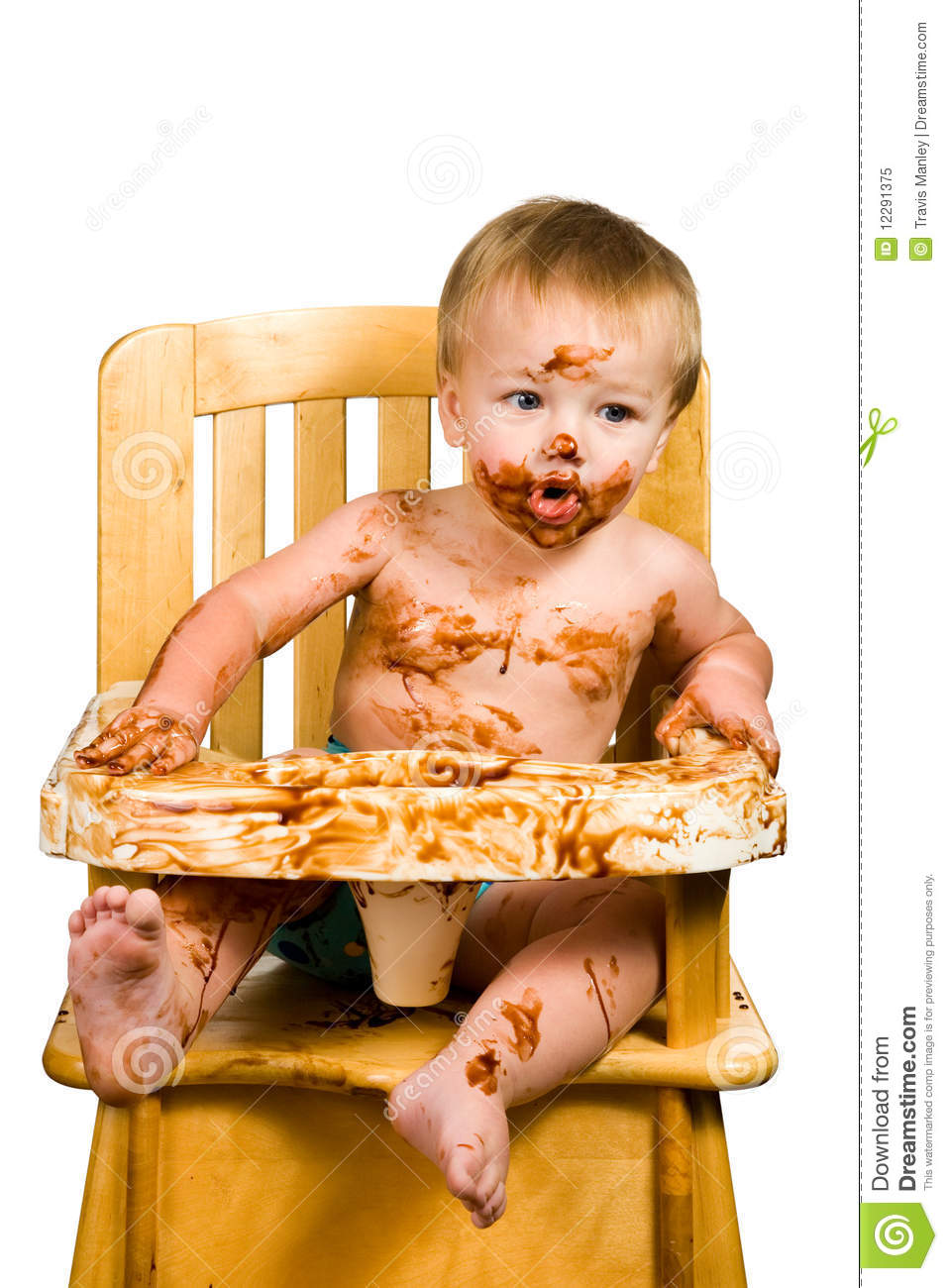 Messy Baby Boy Isolated Stock Image Image Of Child