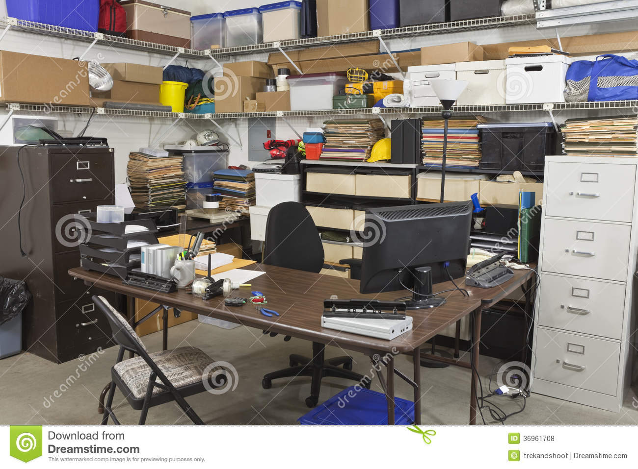 Messy Back Office Royalty Free Stock Photos Image 36961708