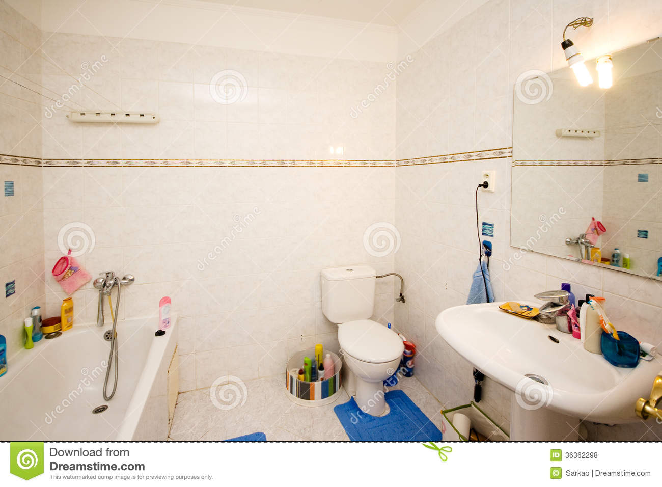 Messy bathroom royalty free stock photos image 36362298 - Picture of bathroom ...