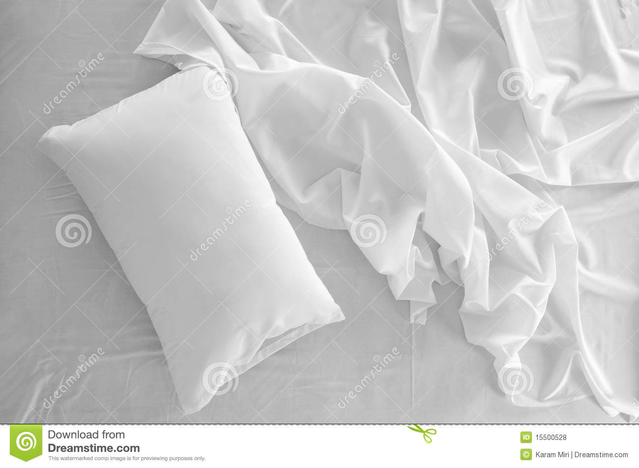 White bed top view - Messy Bed Royalty Free Stock Photos