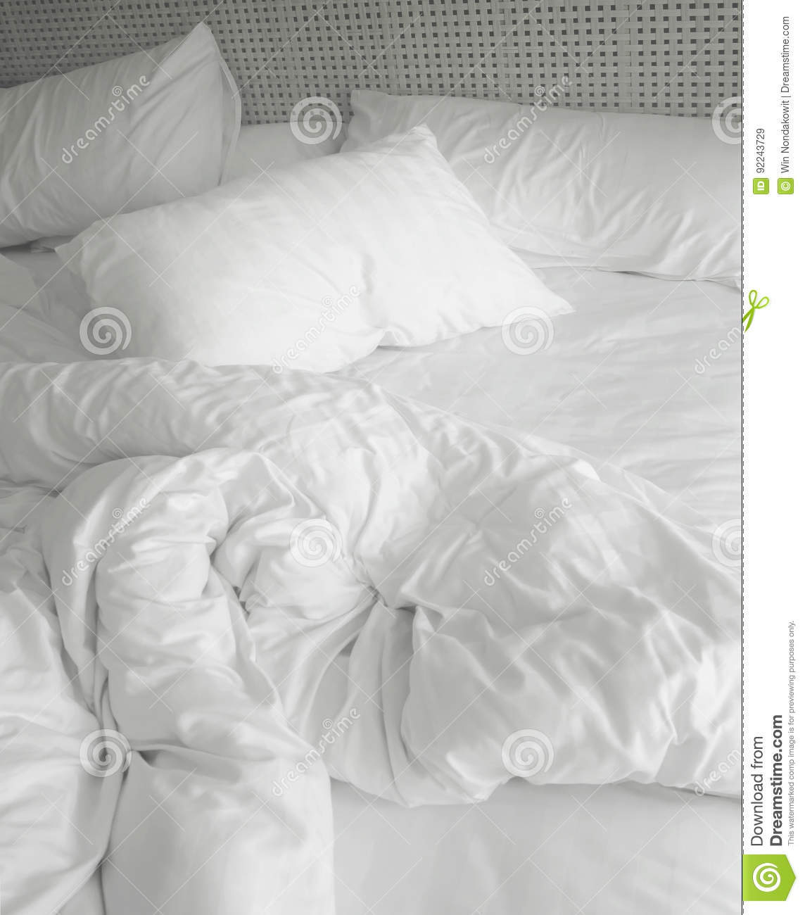 Download Messy Bed Sheets Stock Image. Image Of Material, Clean   92243729