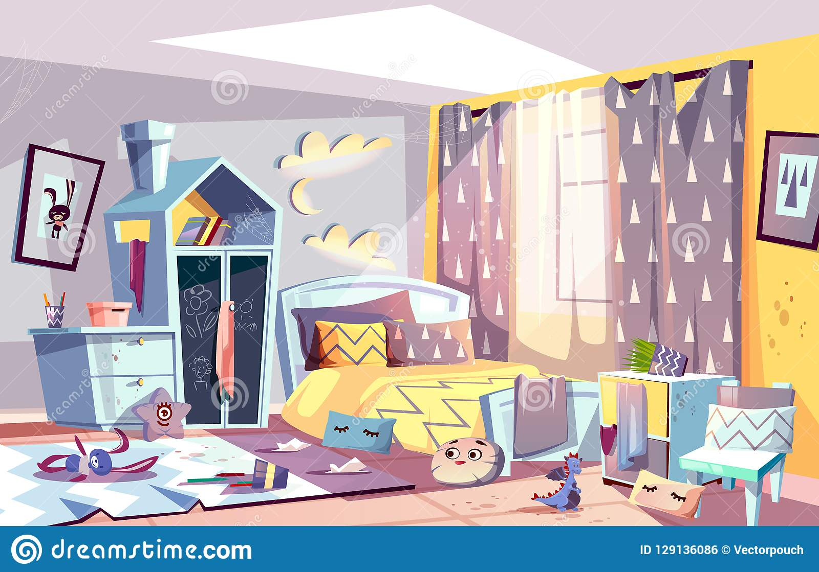 Kids Bedroom In Mess Cartoon Vector Illustration Stock Vector ... on military mobile home, dirty mobile home, shower mobile home, beautiful mobile home, black mobile home, disgusting mobile home, retro mobile home, big mobile home, ugly mobile home, mexican mobile home, wild mobile home, office mobile home, spirit mobile home, cute mobile home, crappy mobile home, funny mobile home, beach mobile home, rotten mobile home,