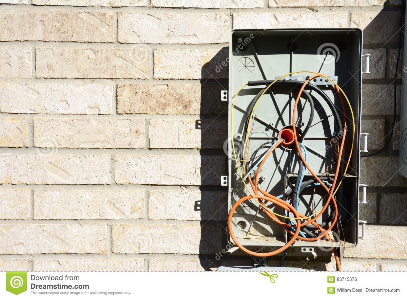 Strange Messy Cable Tv Box Stock Photo Image Of Satellite Junction 83715378 Wiring Digital Resources Xeirawoestevosnl